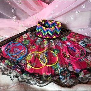 Jewelry - 💗🎀PINK SALE-3pr earrings & beaded bracelet💗🎀